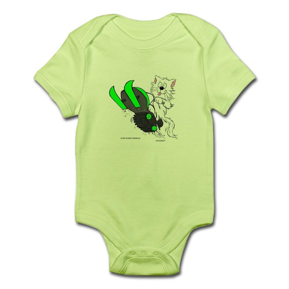 Snowmobile Cat In Color Green Infant Bodysuit Cute Infant Bodysuit Baby Romper CafePress