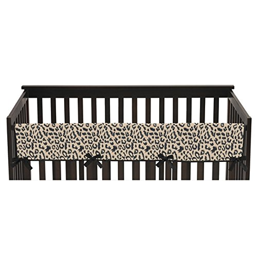 Long Crib Rail Guard Cover for Animal Safari Collection