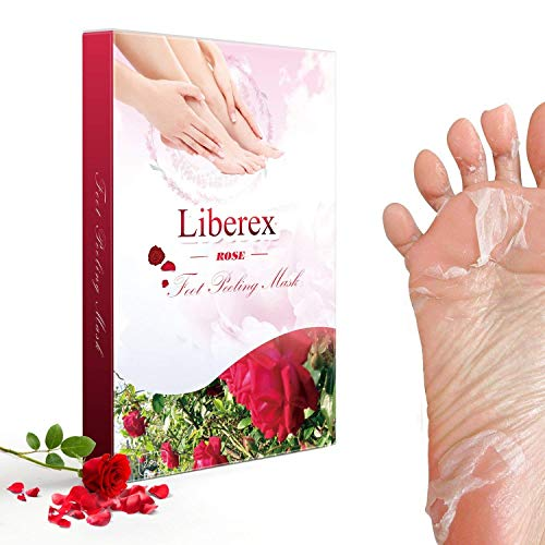 Liberex Exfoliating Foot Peeling Mask - 2 Pairs Peel Booties for Callus Dead Skin, Get Soft Touch Smooth Feet in 1 Week, Repair Rough Heels for Men Women by Liberex