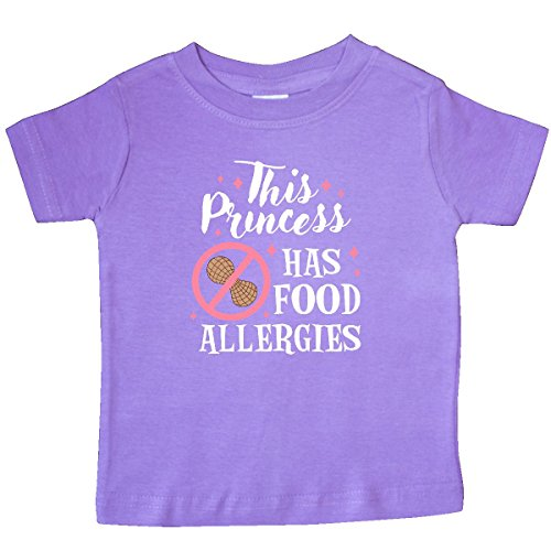 Inktastic - This Princess Has Food Allergies Baby T-Shirt 18 Months - Toddlers Food Allergies