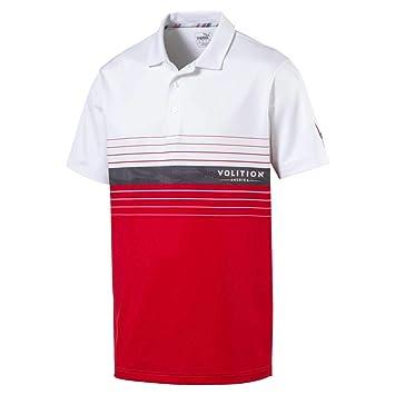 PUMA 2019 Volition Horizon Polo, High Risk Red-Bright White, XX ...