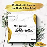 Bachelorette Party Decorations Kit by Four Fable Studios | Bridal Shower Supplies Including, Rhinestone Tiara, Rose Gold Sash, Bridal Veil with Pearls Bachelorette Banner for The Bride + Bride Tribe