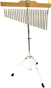 Luvay 25-Bar Chimes Percussion Instruments with Mounting Stand and Stick