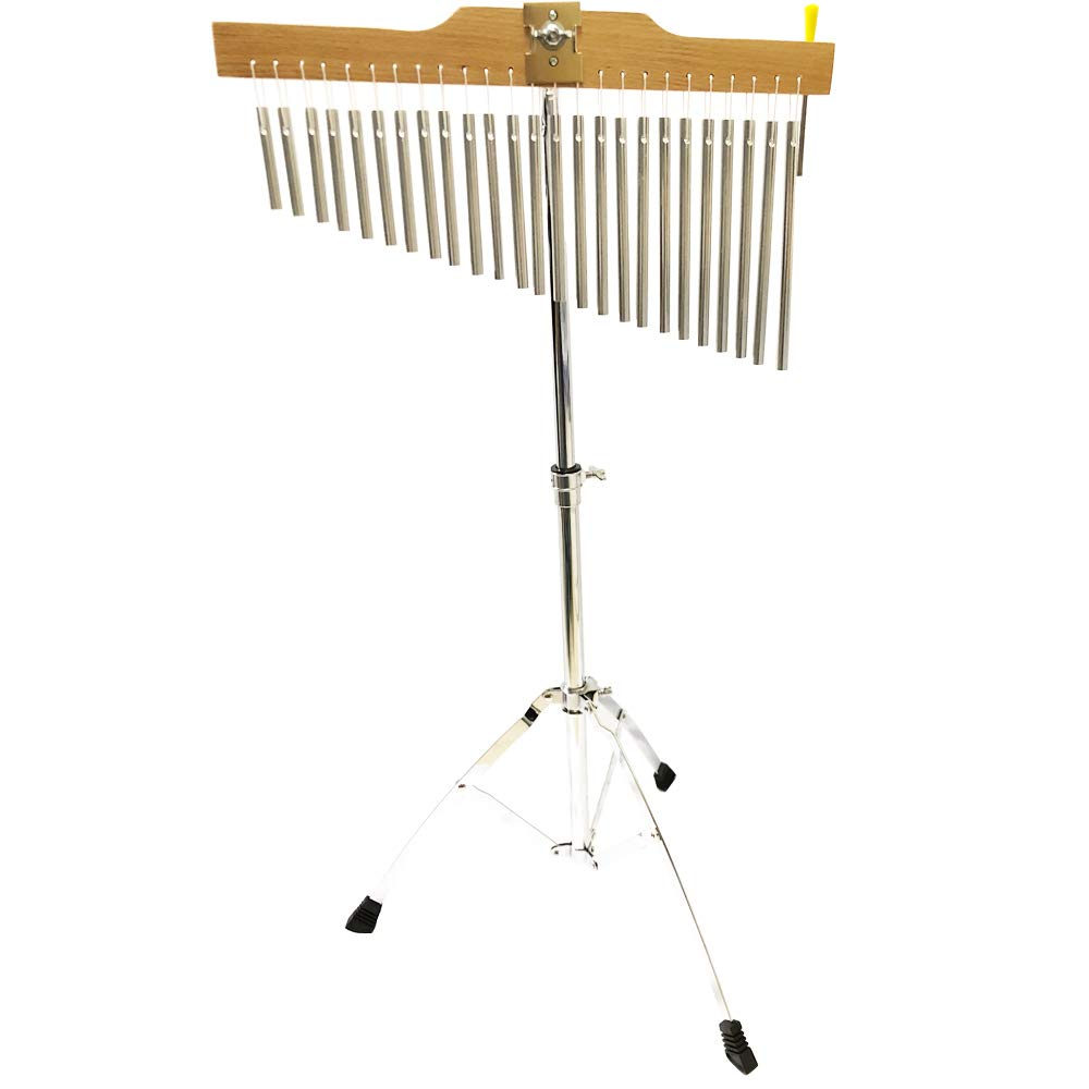 Luvay 25-Bar Chimes Musical Instruments with Stand and Stick- Kids' Drum Set & Percussion Instruments