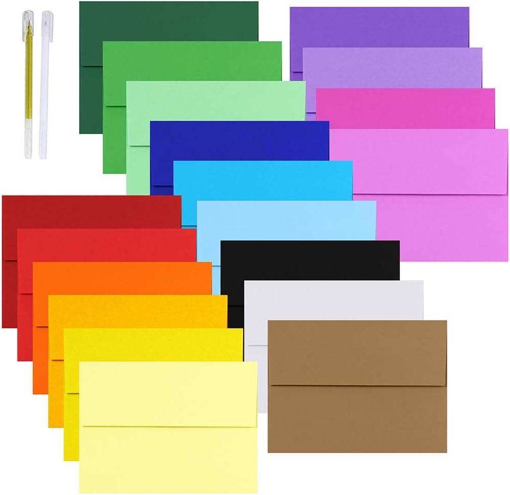 19 sobres de colores 16x11 cm a6