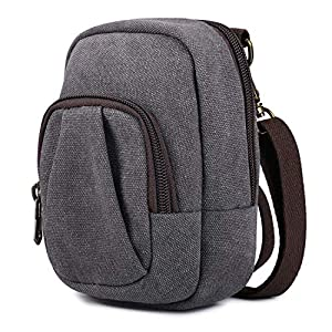 S-ZONE Medium Digital Point and Shoot Camera Case with Strap for Canon, Sony, Nikon, Panasonic and Samsung