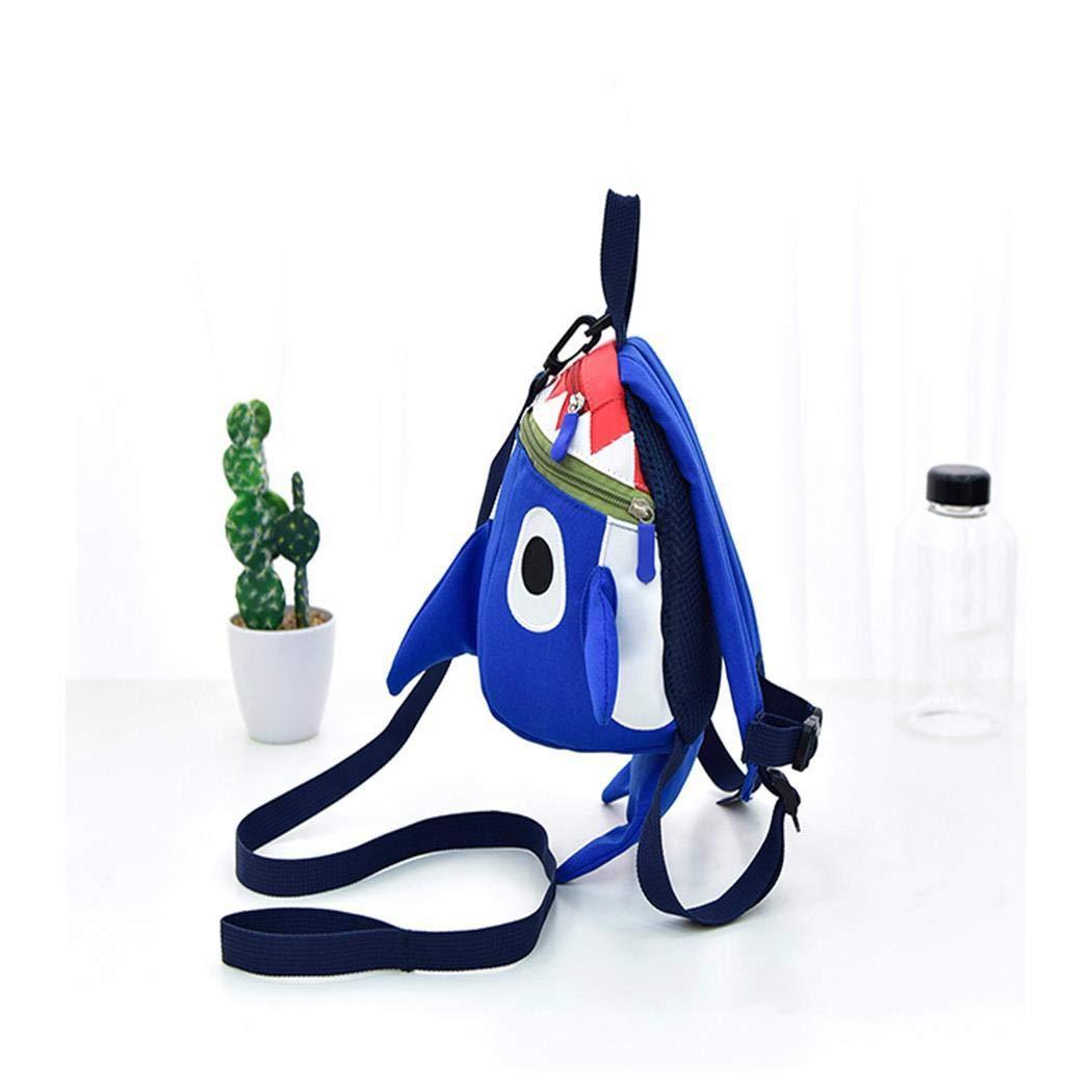 Anstsy Niños Niños Chicas Estudiantes de dibujos animados Mochila de impresión de moda Zip Bag Mochilas tipo casual