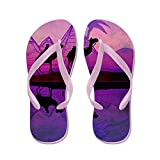 CafePress Camel Train Silhouetted Against colorfu - Flip Flops, Funny Thong Sandals, Beach Sandals
