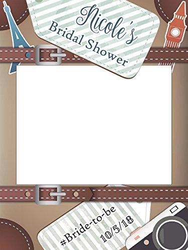 Custom Travel Wedding Photo Booth Frame - Sizes 36x24, 48x36; Personalized travel Bridal Shower Photoboth, Bridal shower photo booth, Wedding selfie frame, Handmade Party Supply Photo Booth Props from speedyorders
