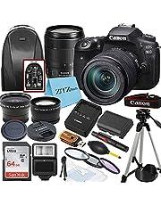 Canon EOS 90D DSLR Camera 32.5MP Sensor 4K UHD with EF-S 18-135mm USM Lens + SanDisk 64GB Memory Card + Tripod + Case + Wideangle Lenses + ZeeTech Accessory Bundle (20pc Bundle)