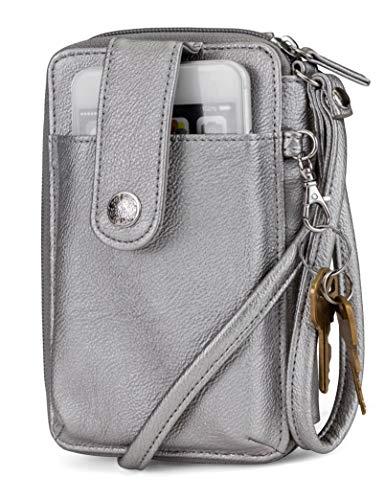 (Mundi Jacqui Vegan Leather RFID Womens Crossbody Cell Phone Purse Holder Wallet)