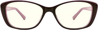 TIJN Occhiali da vista a luce blu Cateye Occhiali da vista con filtro anti raggi UV blu