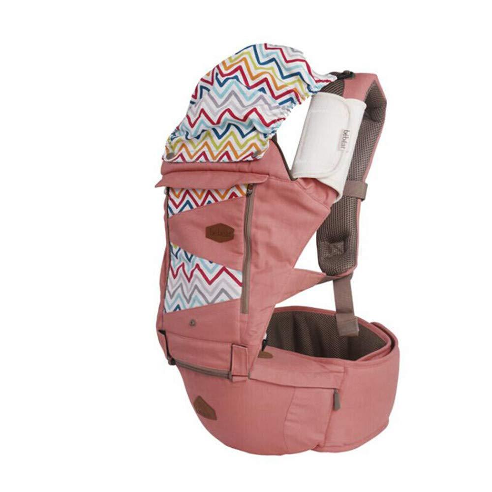 FIFY Babytrage Baby-Schlinge atmungsaktive Schulter Multifunktions-Baby-Taillen-Schemel-Baby-Riemen-Sitz spezielle Absatz C17 erröten Puder, A