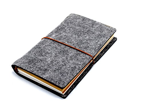 Cover Felt (Wool Felt Cover Journal / Travel Diary / Trip Planner / Notebook (Dark Grey) | 7