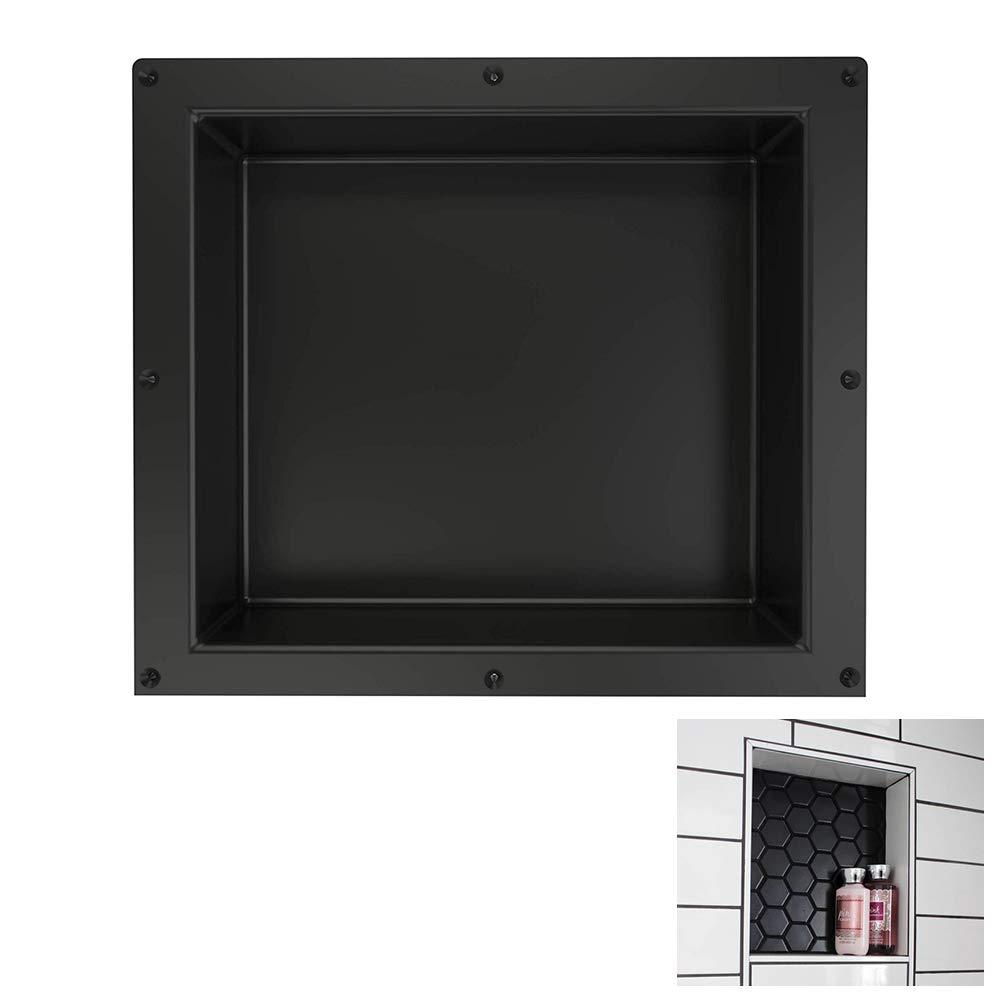 Shower Niche 16 x 16 Inch Single Shelf Shower Insert Shower Shelves for Tile Walls - Wall Niche Shower Box
