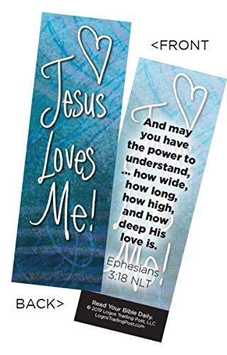 (Children's Christian Bookmark - Jesus Loves Me   Ephesians 3:18   Pack of)
