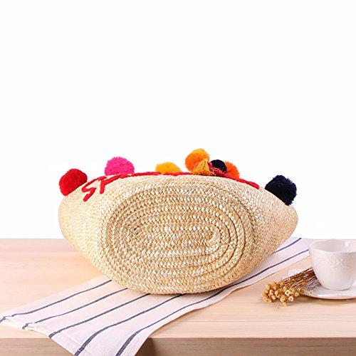 La Bolsas De De De A De Del Hombro Paja De De Casual Tejidas Playa De Qiulv La Natural Mujeres Bola Mano Del Moda Color Bolsa Bolsos Viaje Popular Mano Verano De Hilo Crochet Vacaciones Las Tejidas w0OgzIxqz
