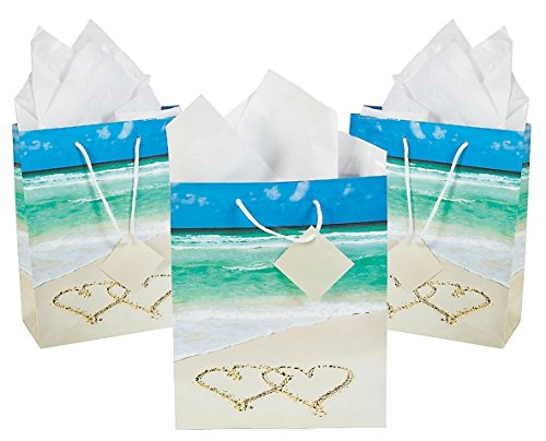 Wedding Beach Gift Bags Paper