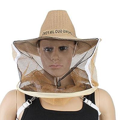 Owfeel Beekeeper Hat Beekeeping Face Mask Cowboy Style
