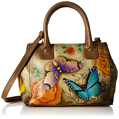 Anna by Anuschka Tote Bag | Genuine Leather | Small, Denim Floral Paisley