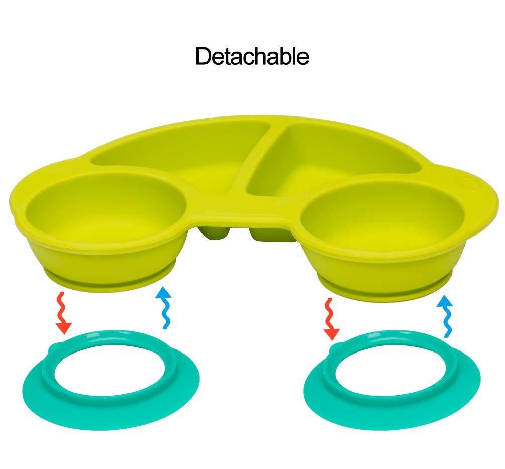 Mikrowelle Baby Teller Sch/üssel Mini Silikon Tischset f/ür Baby Kleinkinder und Kinder Tragbar Teller Baby Rutschfest Babyteller Tischset Abwaschbar f/ür Sp/ülmaschine Neues Auto Blau