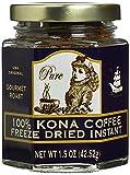 Hawaii 100% Kona Coffee Instant Freeze Dried Glass Jar (1.5 Oz, 42.52g)