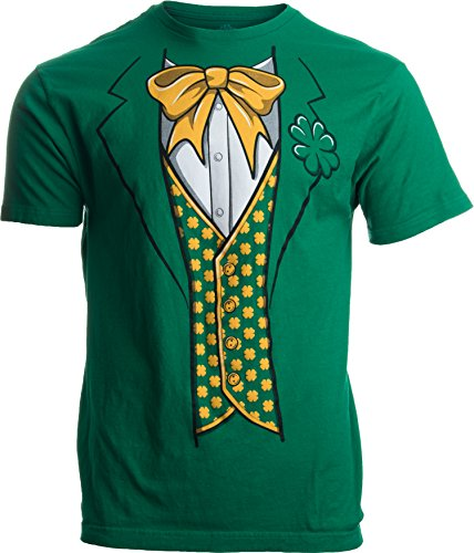 Leprechaun Tuxedo | Funny St. Patrick's Day Irish Paddy Costume for Men T-Shirt-Adult,2XL
