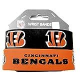 NFL Cincinnati Bengals Silicone Rubber Bracelet, 2-pack