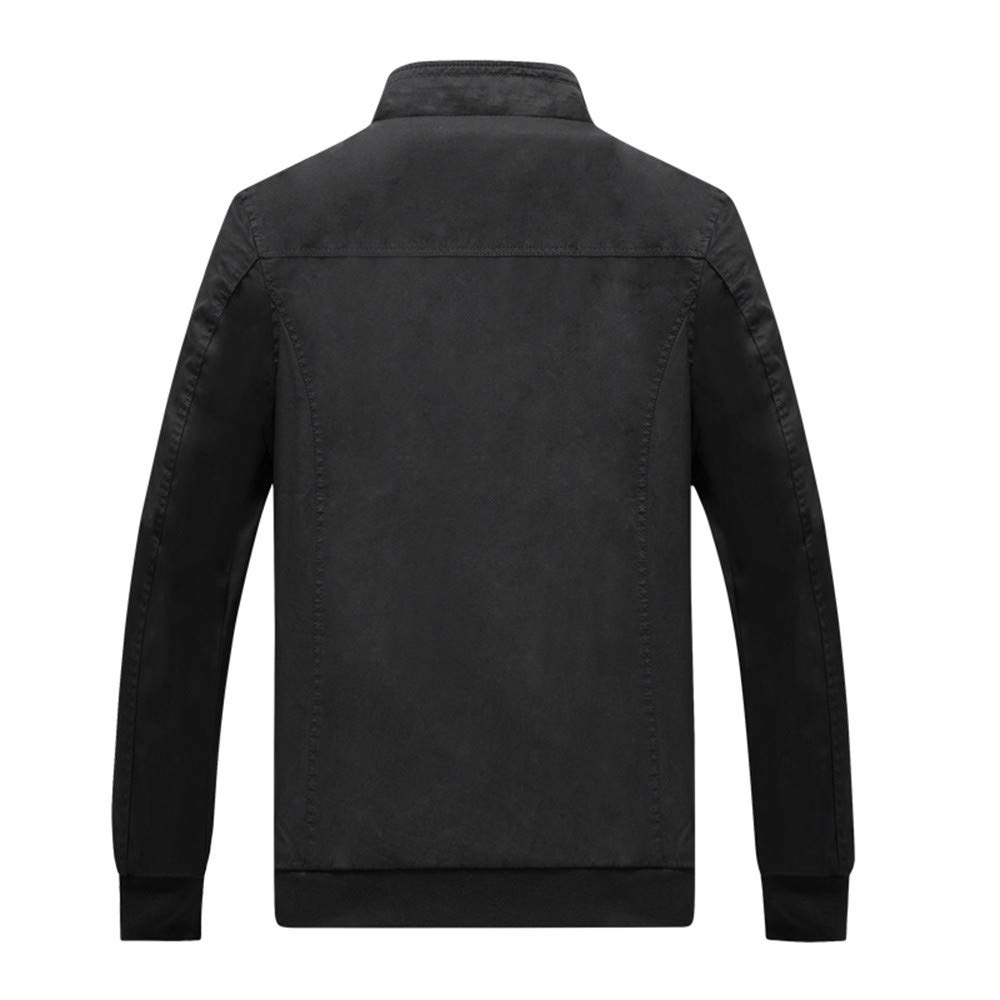 Mens Hoodies Pullover Big and Tall.Fashion Mens Autumn Winter Casual Pocket Button Thermal Leather Jacket Top Coat