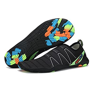 cool nik Water Shoes Men's and Women's Barefoot Quick-Dry Durable Swimming Walking and Running Aerobics Sneakers Black 35