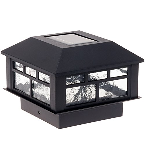 Modern Design Solar Powered Post Cap Light by GreenLighting (Black)