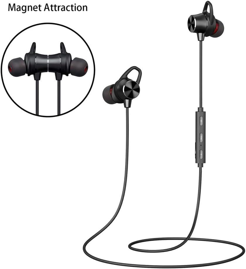 Auriculares Inalambricos Blutetooth, Auriculares Blutetooth Deporte Magnéticos Hi-Fi Sonido Estéreo In-Ear Micrófono Incorporado Cancelación de Ruido CVC 6.0 Sweatproof IPX4 Siri iPhone y Android