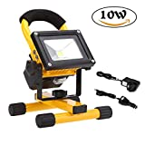 10W Rechargeable LED Work Light, Beshine Portable Flood Light Emergency Lamp in Cool White ideal for Outdoor Camping Fishing Car Boat (IP65 2200mAh 4 Hours)