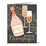24 Note Cards - This Calls for Champagne - Blank Cards - Gray Envelopes Included