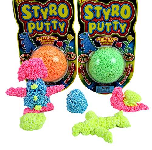 JA-RU STYRO Putty Foam Glows in The Dark (Pack of 144) Styrofoam Shapable Mold Soft and Squishy   Item #1328-144 by JA-RU (Image #3)