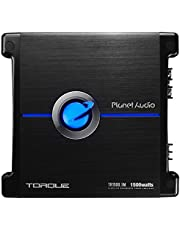 Planet Audio TR1500.1M Torque 1500 Watt, 2 Ohm Stable Class A/B, Monoblock, Mosfet Car Amplifier with Remote Subwoofer Control