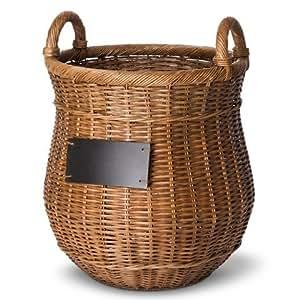 Smith & Hawken Round Decorative Basket with Chalkboard