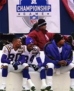 Chris Carter-randy Moss-daunte Culpepper Minnesota Vikings 8x10 Sports Action Photo (a)