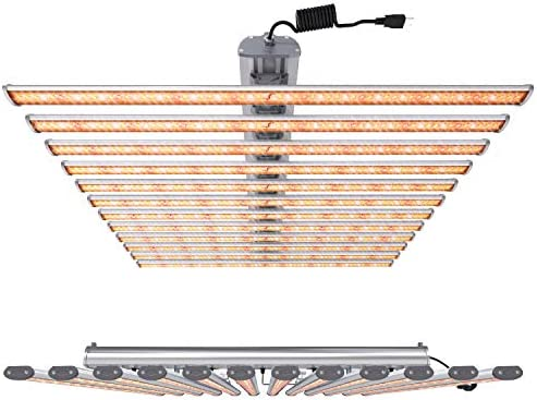 MEPELE LED Grow Lights 650 Watt Sunlike Aluminium Finish with Full Spectrum ETL Certified Separate Driver 4 x4 Flower Compatible for Indoor Plants at All Growing Stages. 5700K 2700K 660nm