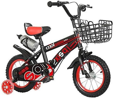 YSA キッズバイク12インチ14インチ16インチ18インチキッズバイク2〜13歳向け、子供用自転車、補助輪とハンドブレーキ付き、赤、青自転車