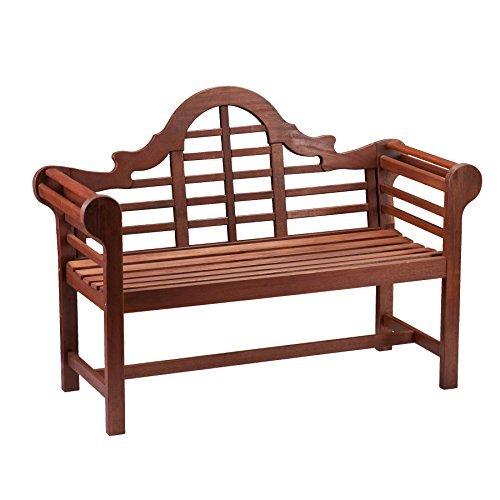 Southern Enterprises SEI Lutyens 4' Hardwood Bench - Natural Oil (Sei Metal Table)