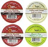48 Capsules - Variety Pack Single Serve Keurig Compatible Pod (12 Breakfast / 24 Dark Roast / 12 Latte (Cream Coffee))