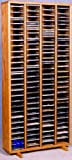Oak CD Rack - 320 CD Capacity (honey oak) (52'' H x 24.75'' W x 6.75'' D)