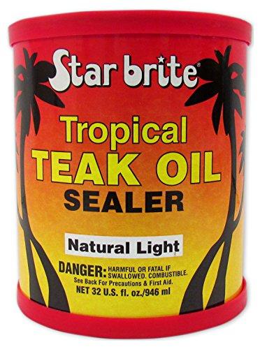 Star Brite Tropical Teak Oil Sealer - Natural Light - Mar...