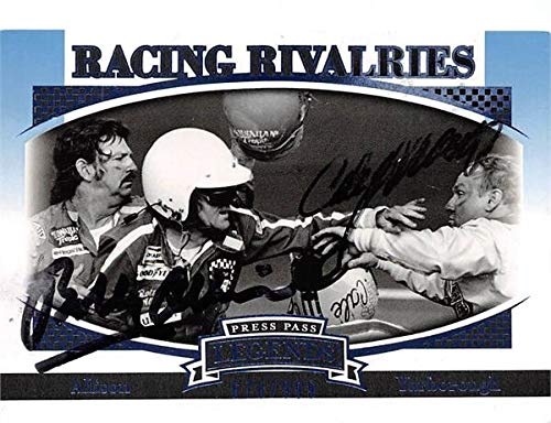 Bobby Allison Cale Yarborough Fight autographed trading card 2007 Press Pass #B64 Racing Rivalries Nascar Limited Edition ()