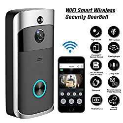 Usdream Smart Wireless 720p Hd Camera Home Wifi Security Doorbell Wi Fi Real Time Phone Video Door Bell With Two Way Talks Day Night Vision Pir Motion Detection For Indoor And Outdoor