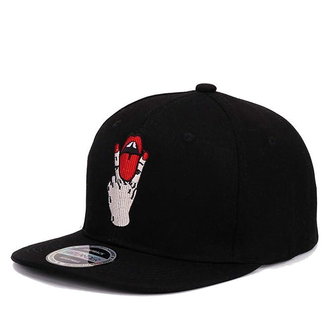 aoqngai Girls Letter Baseball caps Bboy Gorras Planas Outdoor Sports Hats Black OneSize