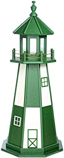 product image for DutchCrafters Decorative Lighthouse - Poly, Cape Henry Style (Turf Green/White, 6)