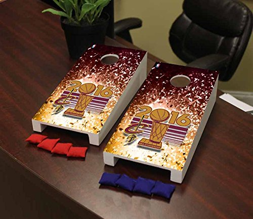 Victory Tailgate Cleveland Cavaliers NBA Basketball Desktop Cornhole Game Set 2016 Champions Confetti Version by Victory Tailgate