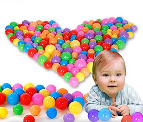ixaer カラフルなオーシャンボール100個 ソフトプラスチックボールピットボール 赤ちゃん 幼児 子供用   B07NPFZPQ9